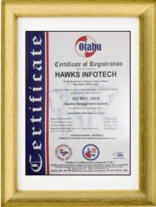 Hawks ISO Certificate